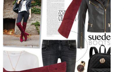 Как и с чем носить ботфорты на каблуке: стильные образы
