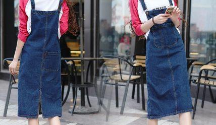 С чем носить джинсовый комбинезон?