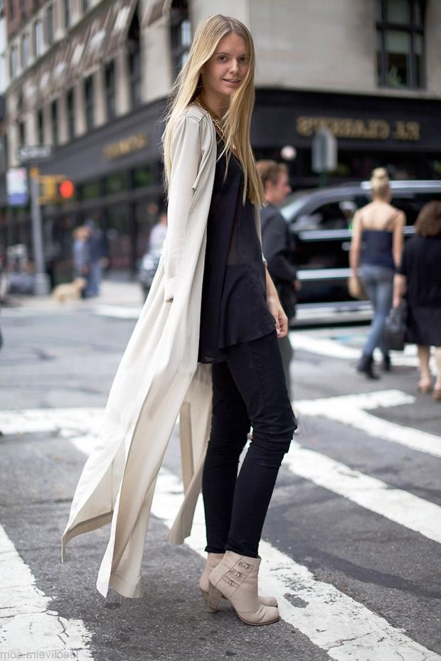 длинный черный кардиган с чем носить фото