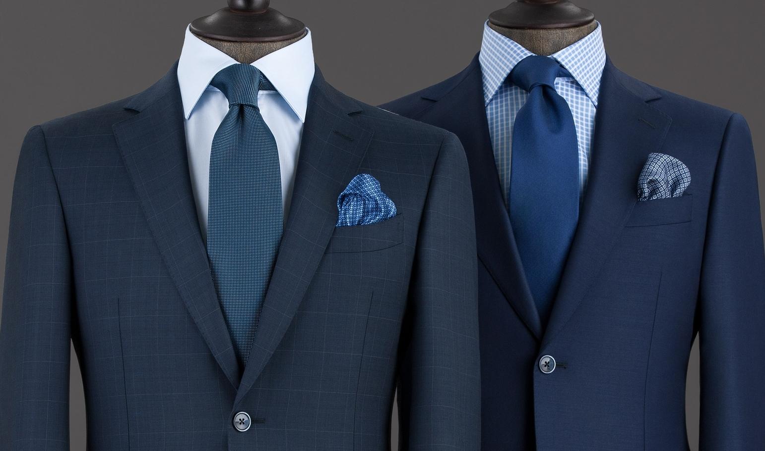 Как носить темно-сине-белый шерстяной пиджак