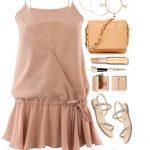 платье цвета пудры