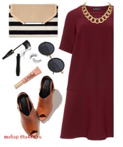 Платье А-силуэта темного цвета идеально скроет бока!