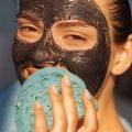 угольная маска с мочалкой