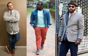 три разных образа для полных мужчин