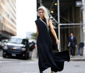 черное макси-платье