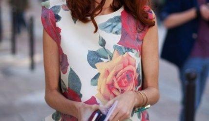 Какое платье в цветочный принт выбрать и с чем носить?
