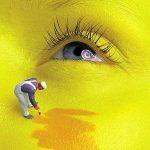лицо красят желтым
