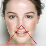 подбородок в треугольнике