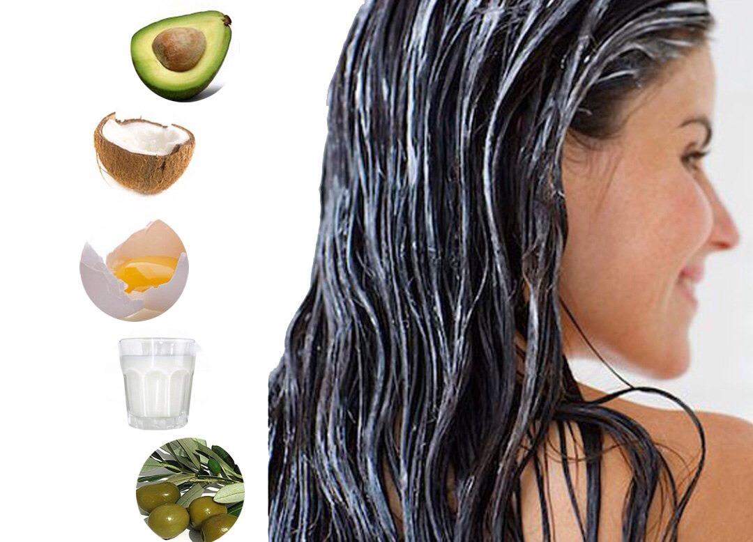 волосы и компоненты масок