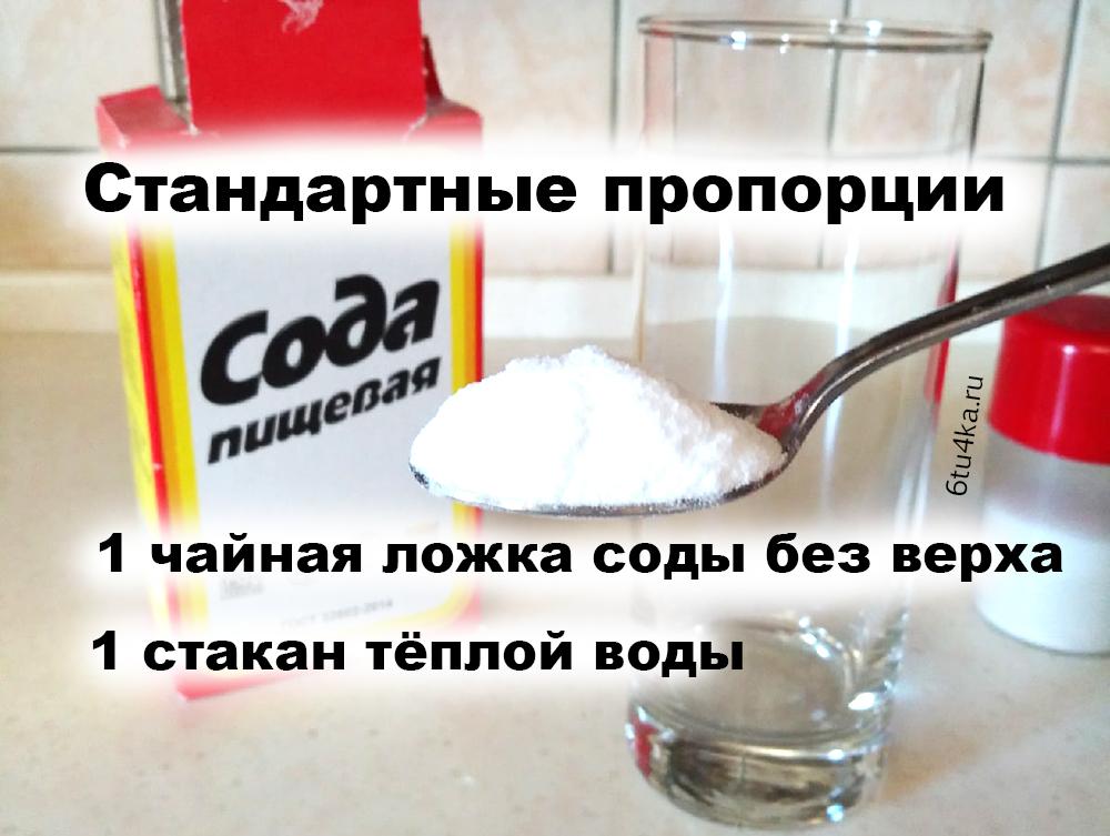 пропорции соль сода йод для горла полоскание горла содой