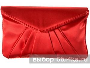 Красный сатиновый клатч Avance Agata Amarilla