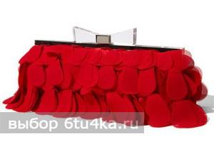Красный шифоновый клатч от Nordstrom