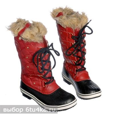 Яркие зимние сапоги Sorel