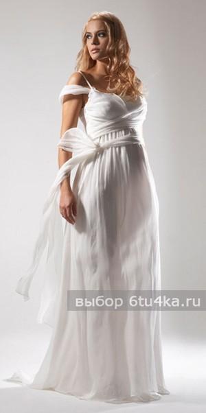 Летящее платье для беременной в стиле Ампир