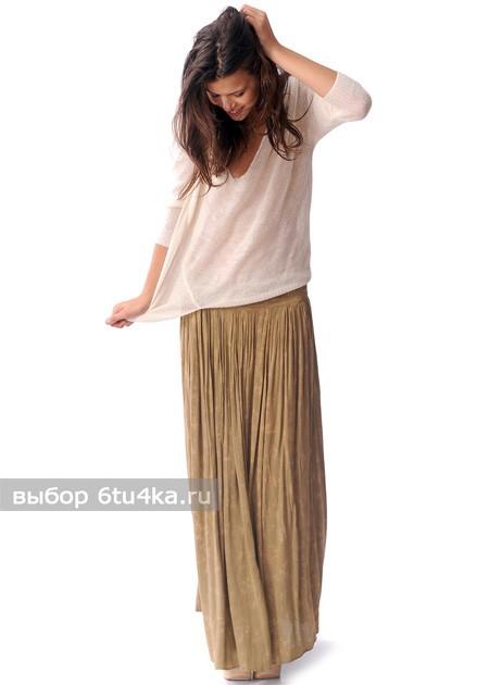 Длинная летняя шифоновая юбка