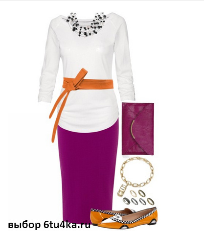 Карандаш - оптимальный фасон юбки для полных
