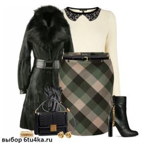 Длинная юбка на зиму