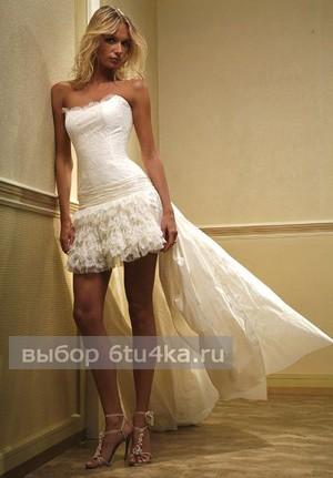Вызывающе короткое свадебное платье