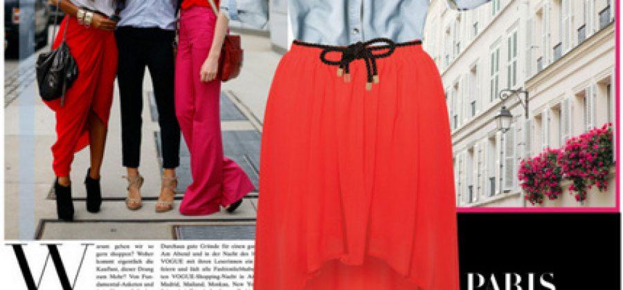 С чем носить красную юбку?