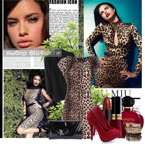Классика леопардовое платье фото