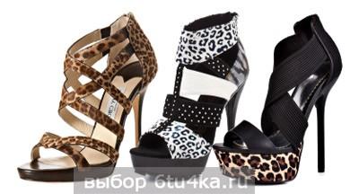 Леопардовые босоножки