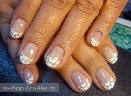 фото маникюр на короткие ногти черный