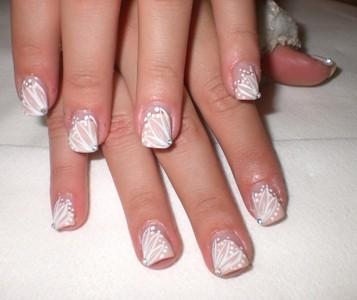 Роспись ногтей на свадьбу