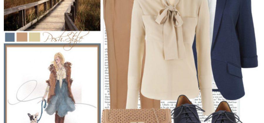 С чем носить бежевую юбку, брюки, жакет?