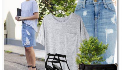 С чем носить джинсовую юбку: одежда и аксессуары