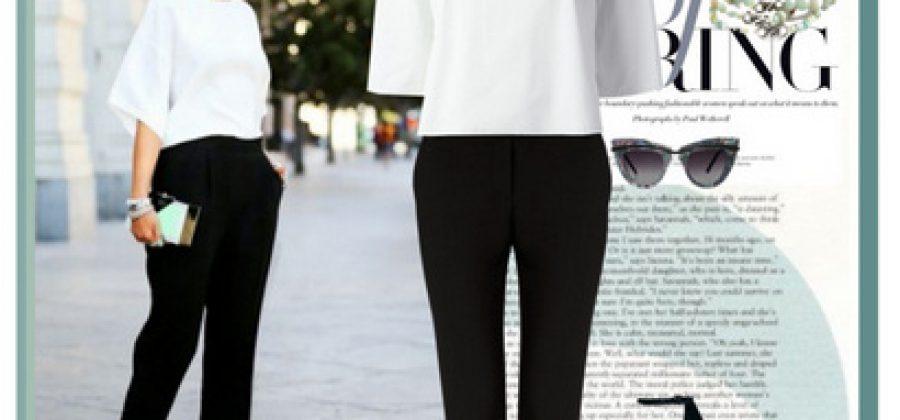 С чем носить черные брюки?