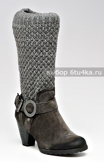 Зимние сапоги из комбинированного материала