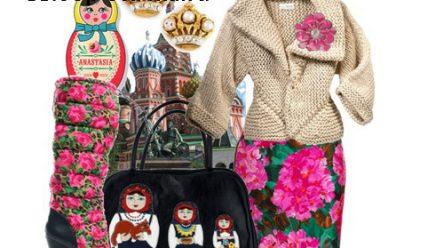 Стиль «матрешка»: русская этника