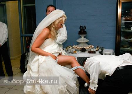 свадебный аксессуар - подвязка