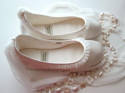 Простые свадебные балетки