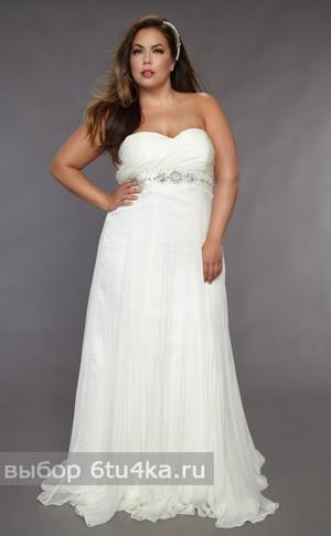 Легкое свадебное платье для полной в