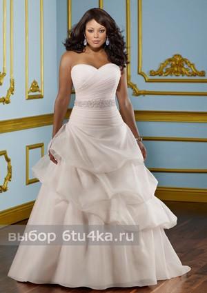 свадебное платье для полной бальное