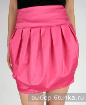 Короткая юбка-тюльпан
