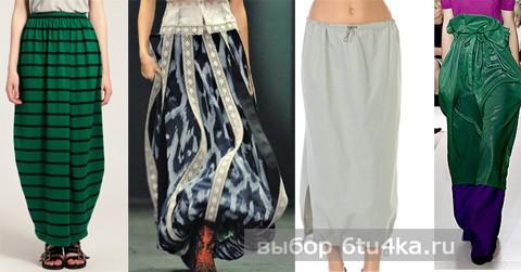Модели длинных юбок: юбка-баллон