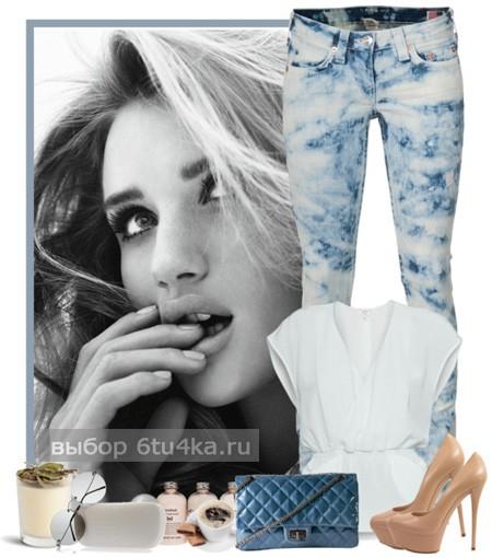 Наряд для вечеринки: джинсы + топ
