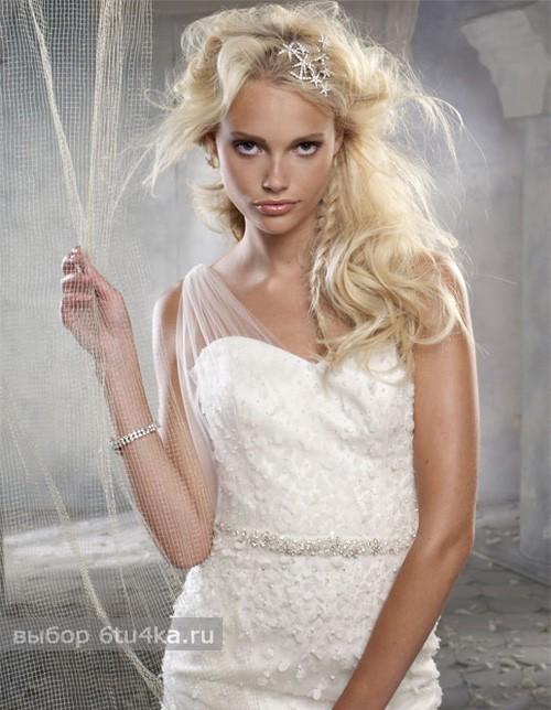 Весеннее свадебное платье-мини