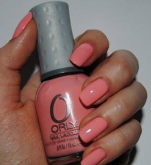 Коралловый цвет лака для ногтей Orly